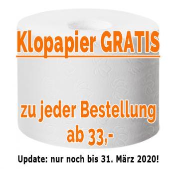 Rolle Klopapier - gratis zu Ihrer Bestellung ab 33,- EUR