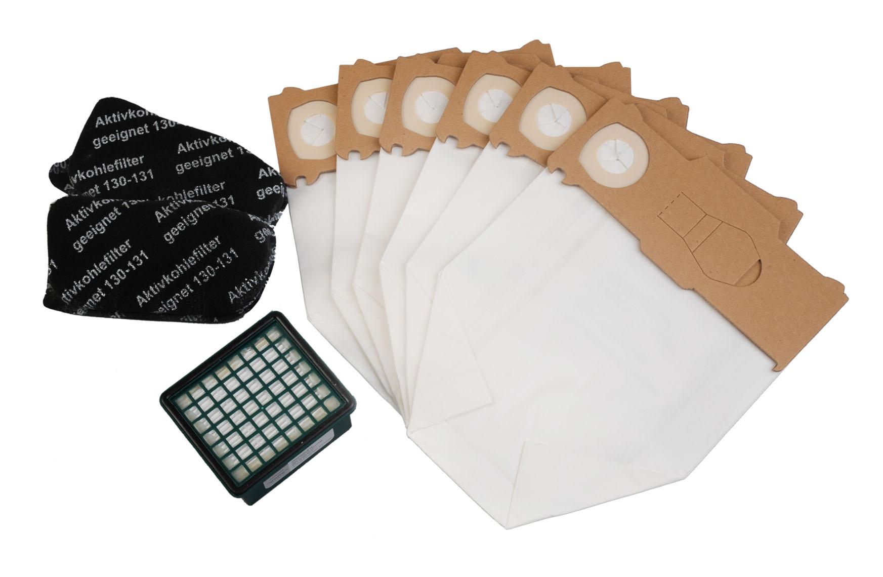 50 Staubsaugerbeutel Hepa-Filter-Set passend für Vorwerk Kobold 130-131