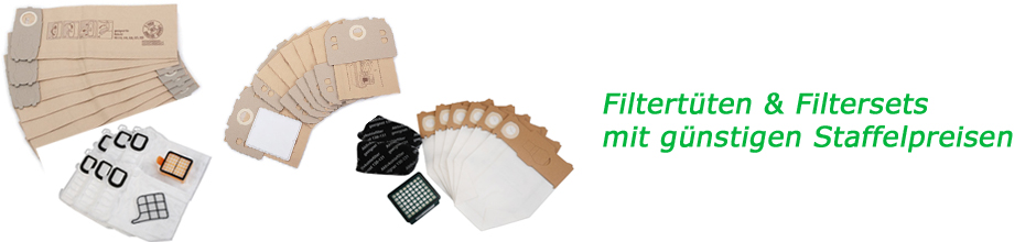 Banner Filtertüten & Filtersets